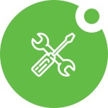Computer support services icon