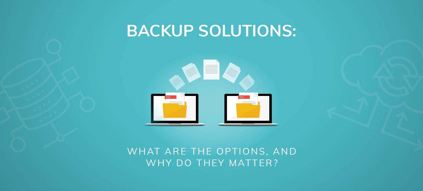 Backup solutions graphic